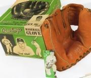 1954-1957 rawlings glove and box, w/tag
