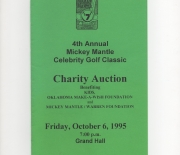 1995 4th annual golf classic, auction, friday, 10/06/1995