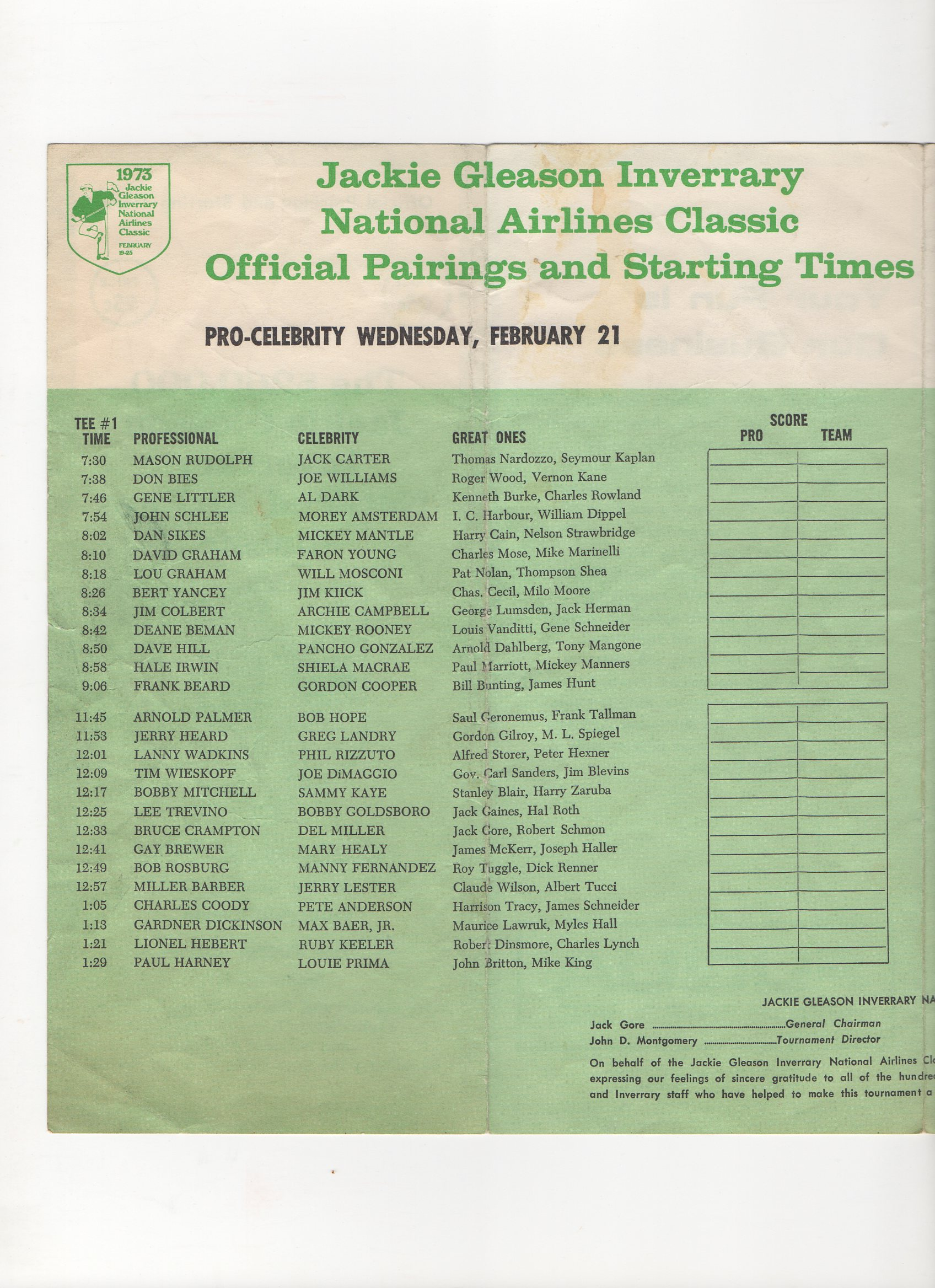 1972 jackie gleason inverrary national airlines classic