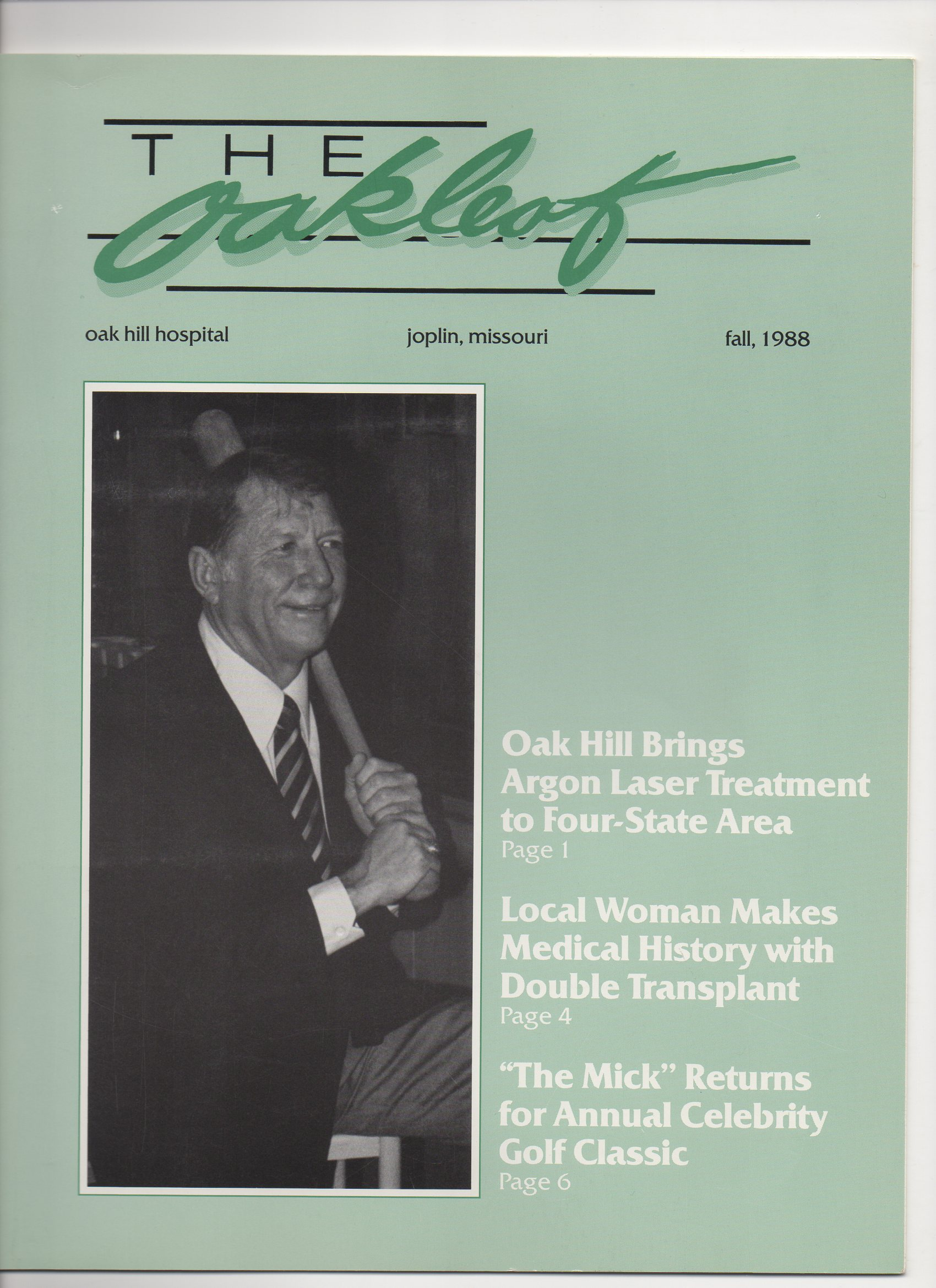 1988, the oakleaf, fall edition