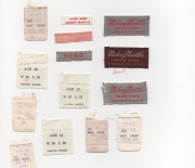 1960 era glen berry assorted jeans tags