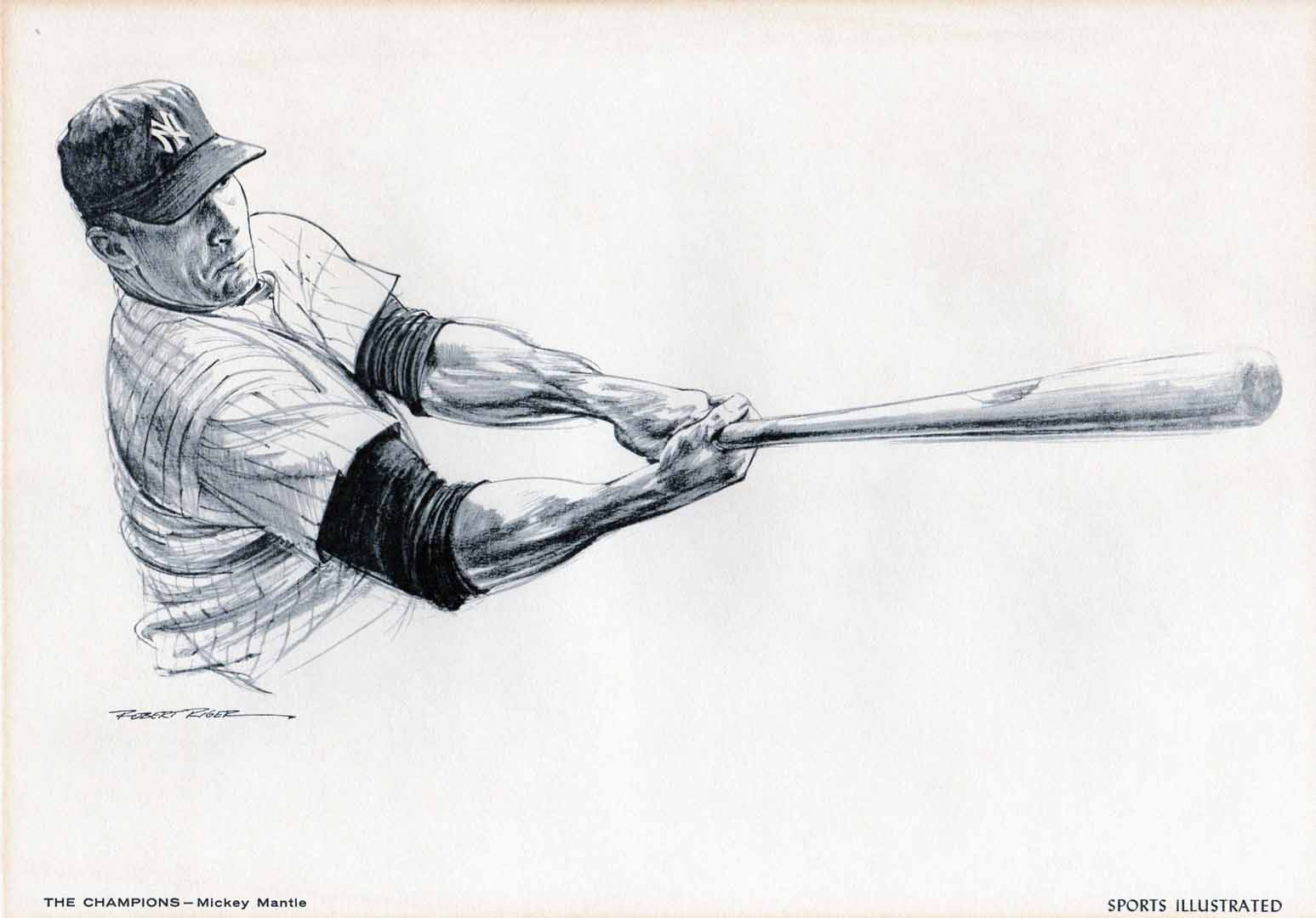1962 SI, Robert Riger drawing send in premium