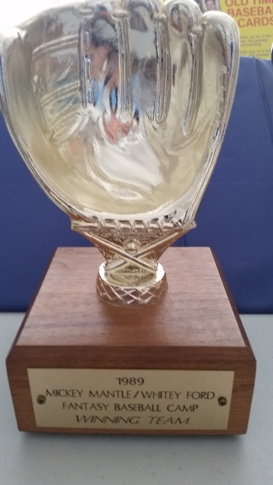 1989 fantasy camp winning team trophy