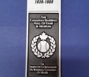 eball hall of fame and museum, 01/011989 canadian bas/1989