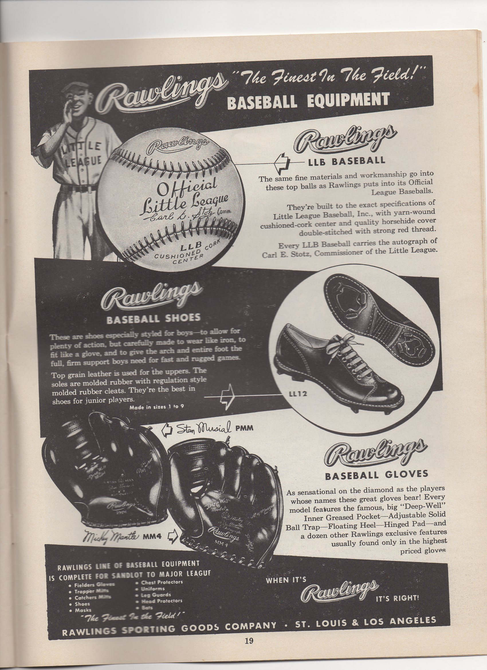 1954 little leaguer magazine, december