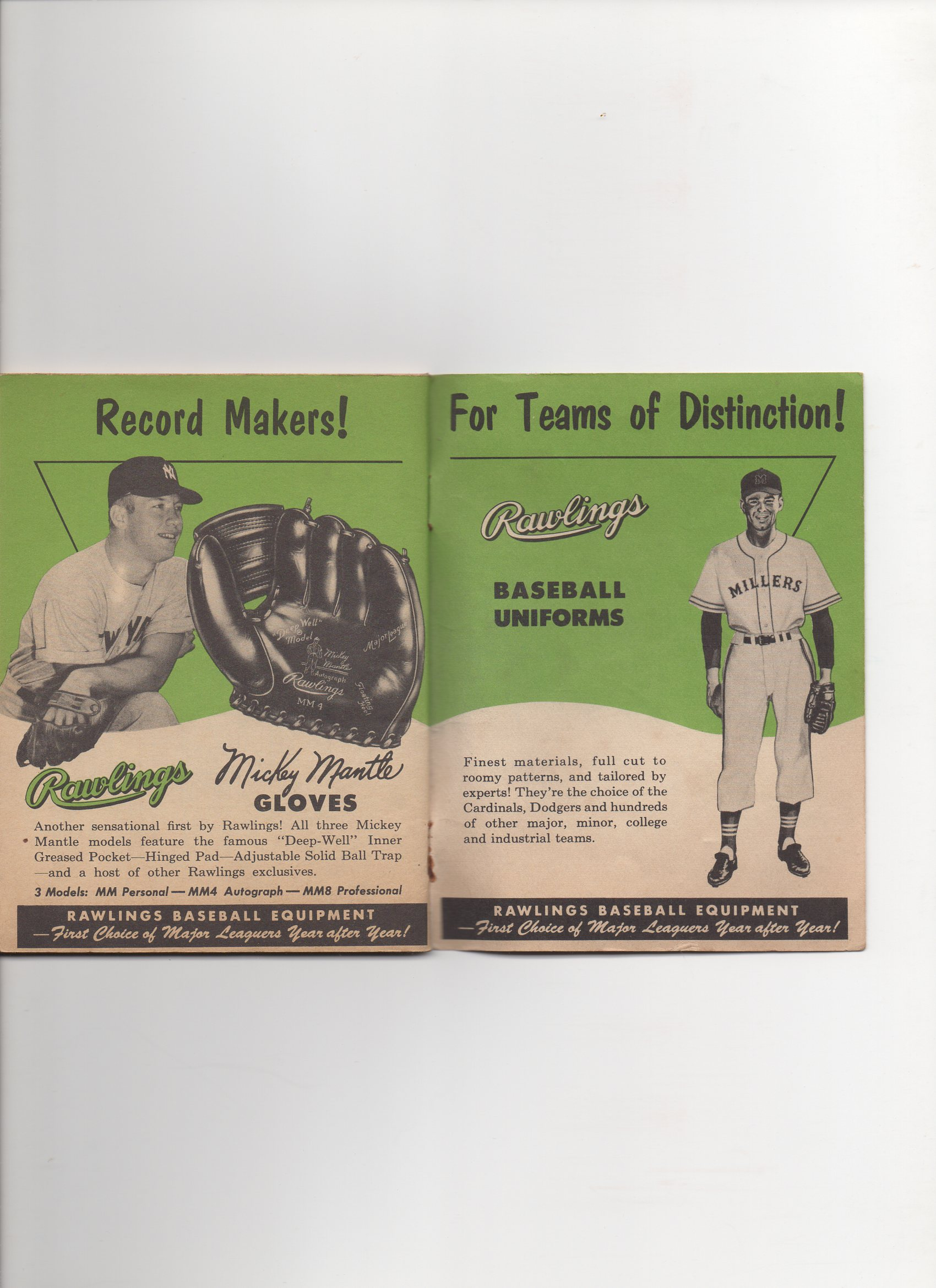 1955 rawlings baseball rules