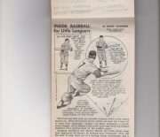 1955 oregon journal, baseball for the youngster pamphlet