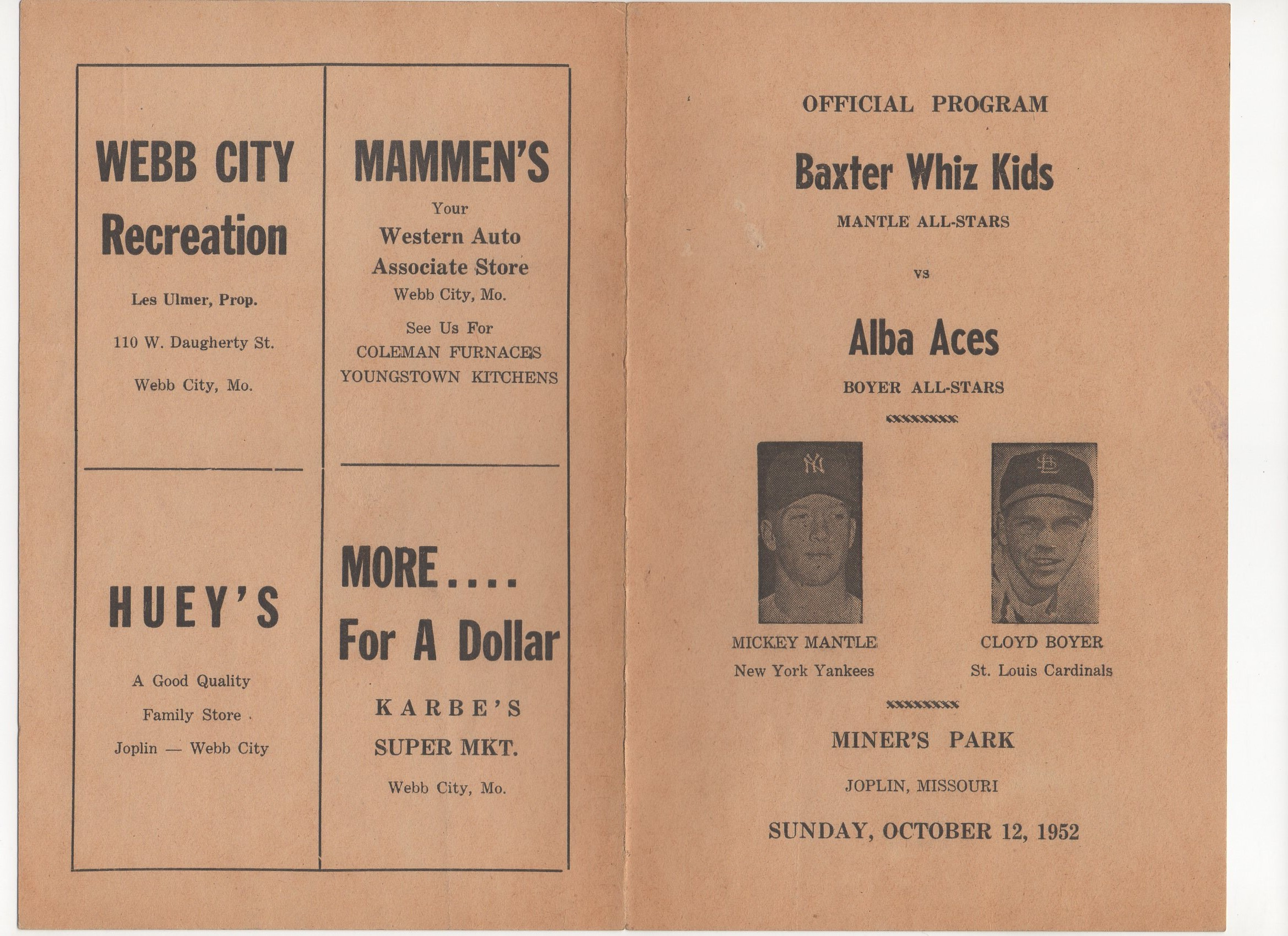 1952 baxter whiz kids program