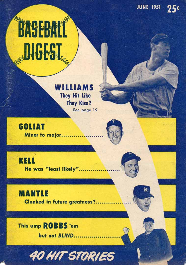 1951 baseball digest June