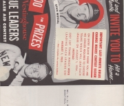1954 westinghouse contest, large foldout brochure, two sided