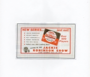 1952 topps high number poster paper
