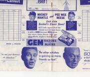 1954 basketball program 03/07/54