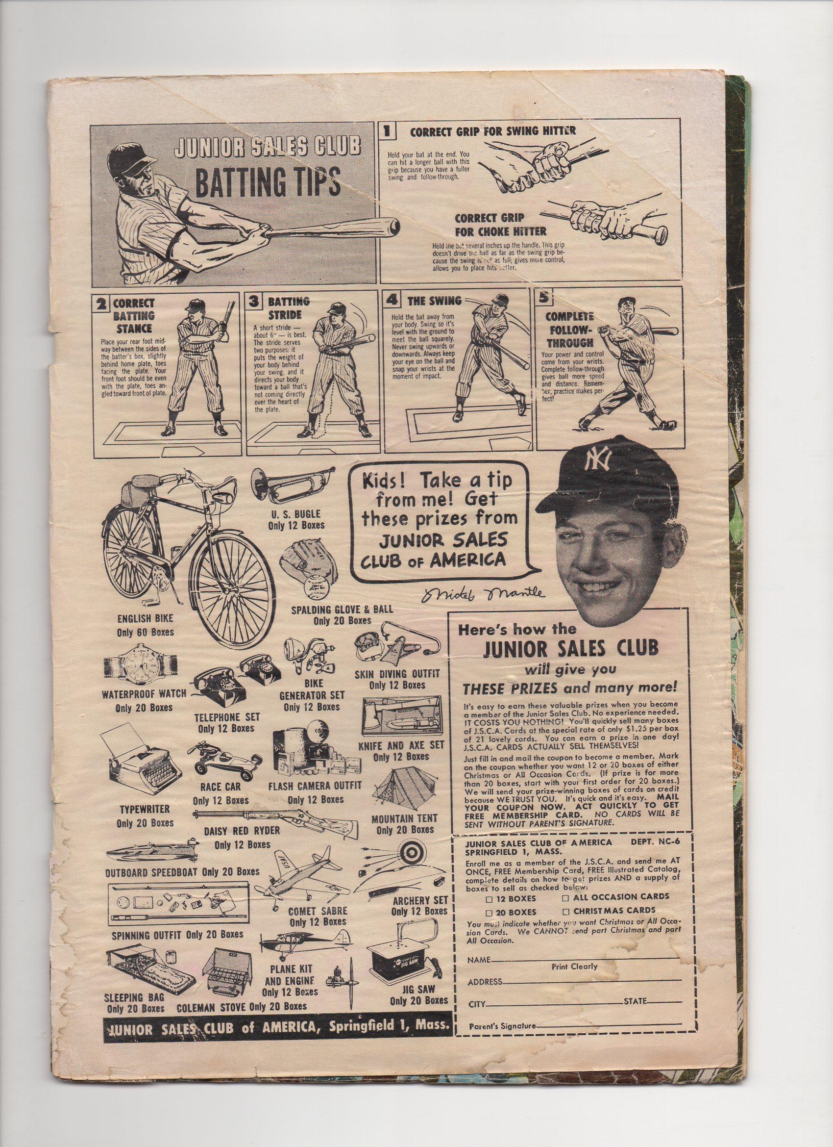 1957 comic book ad, national comics