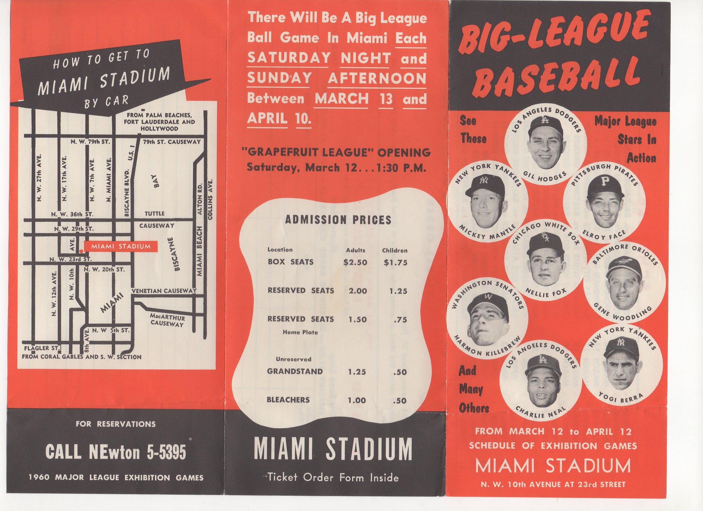 1960 big league baseball