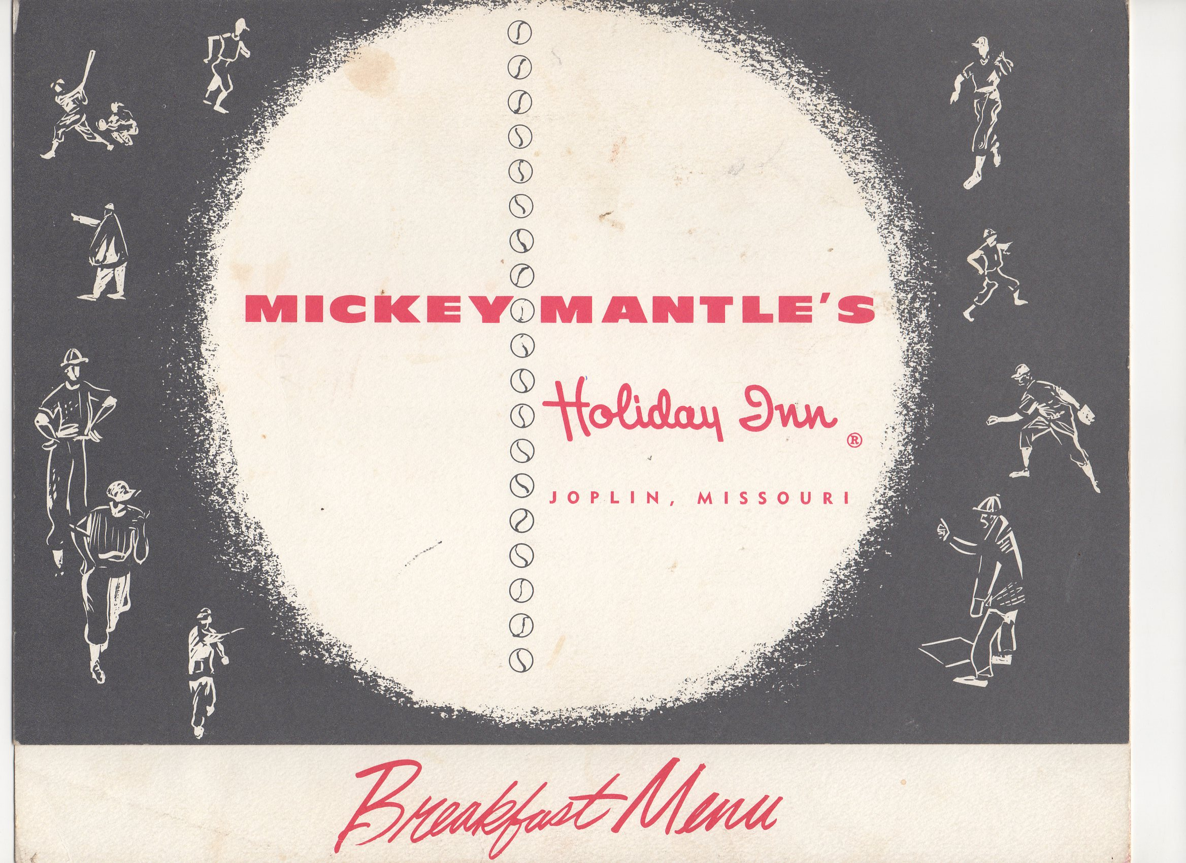 1956-1966 holiday inn menu