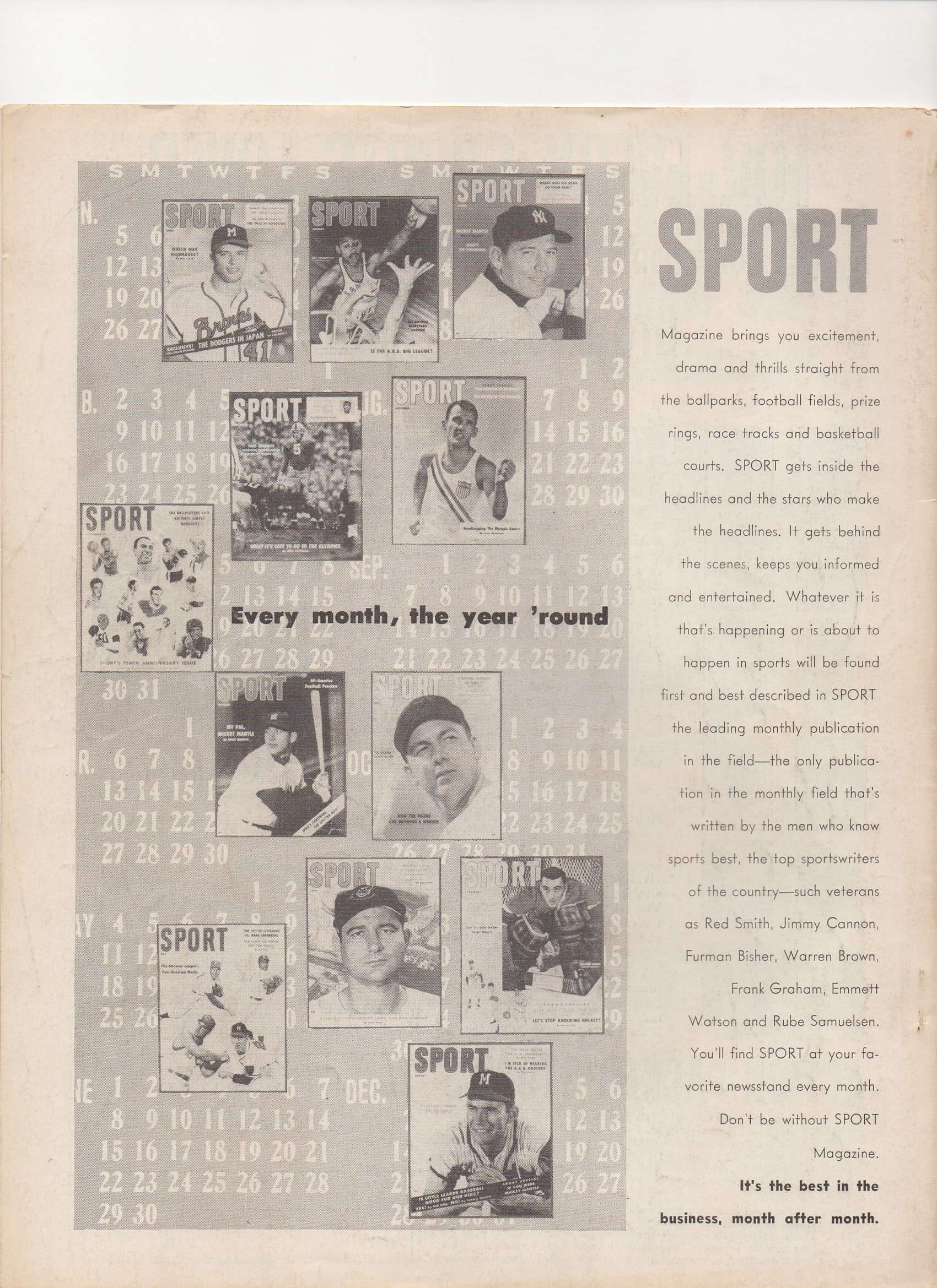 1958 baseball all stars, bartholomew house inc.