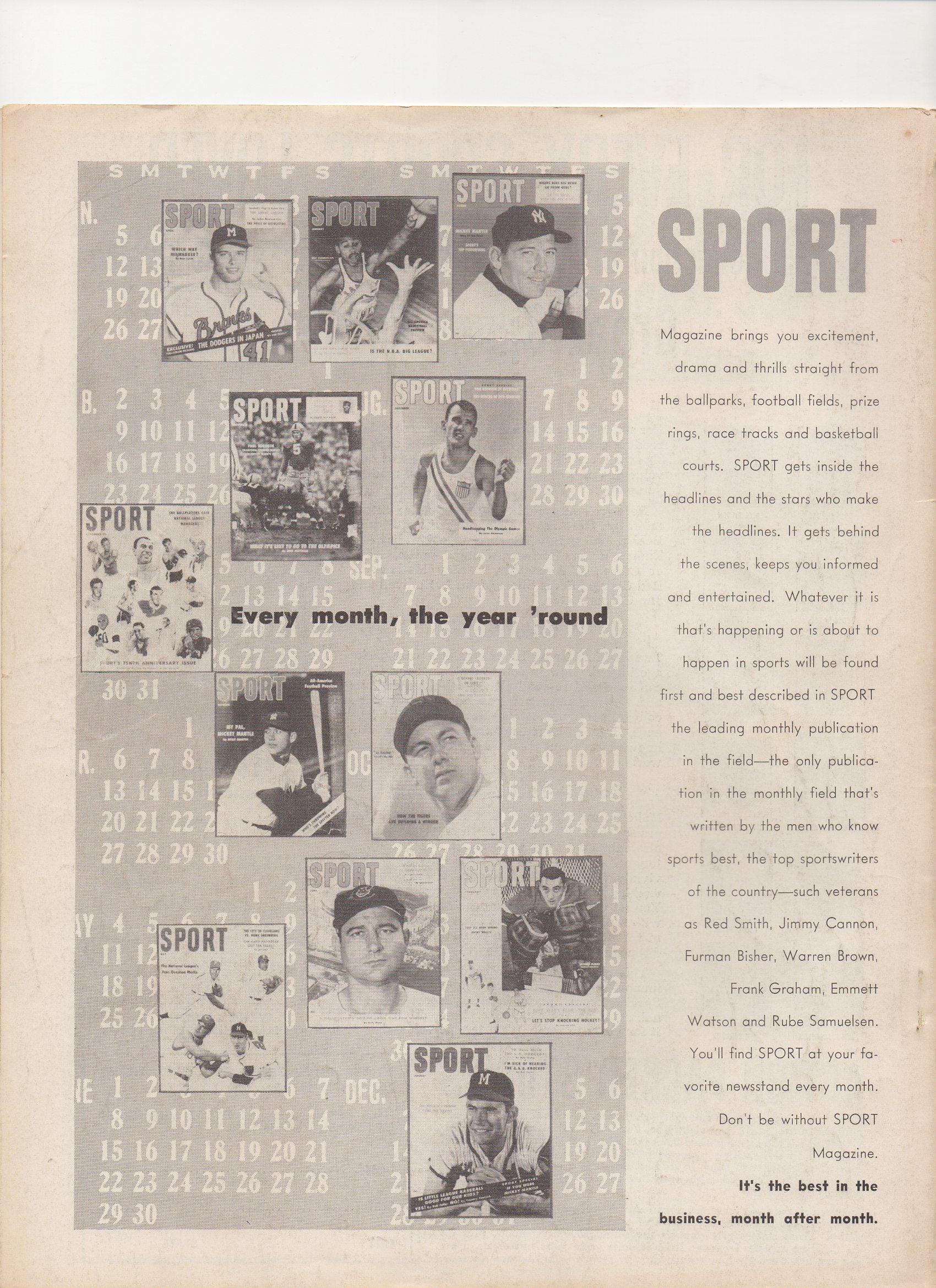 1958 baseball all stars, bartholomew house inc.
