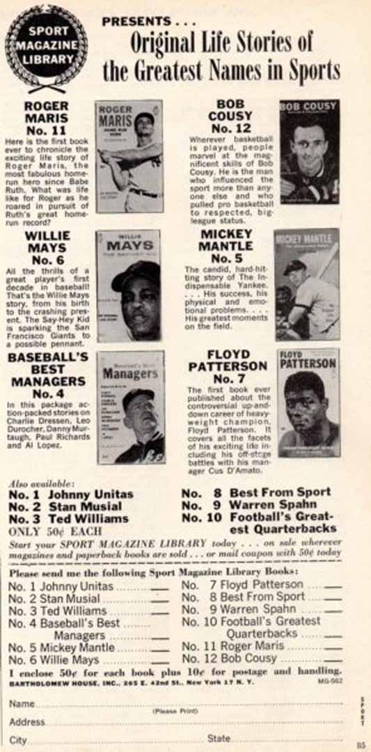1960 era sport magazine