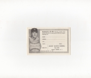 1957 unknown baseball send in, 10/31/1957