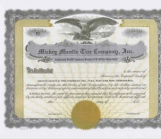 1960-1969 mantle tire stock certificate, possible fake