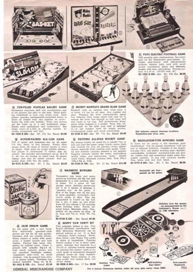 1957 to 58 general merchandise catalog