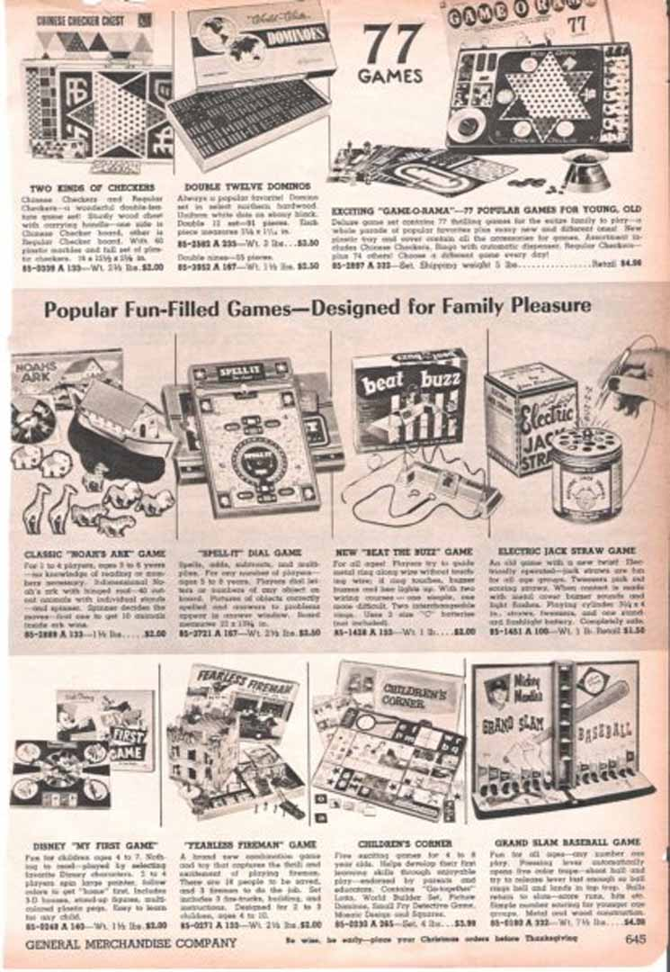1958/59 general merchandise catalog