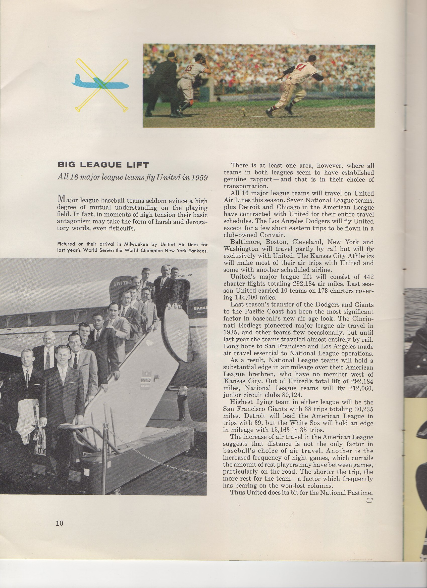 1959 mainliner magazine, united airlines