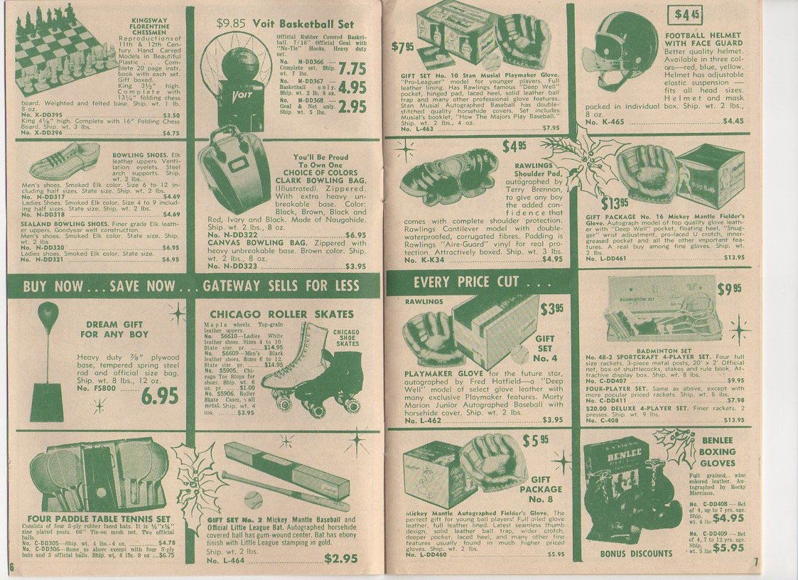 1956 Gateway sporting goods, christmas catalog