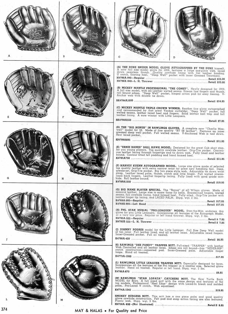 1960 mays halas catalog
