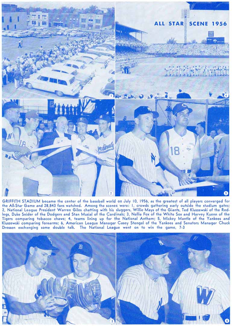 1957 washington senators program