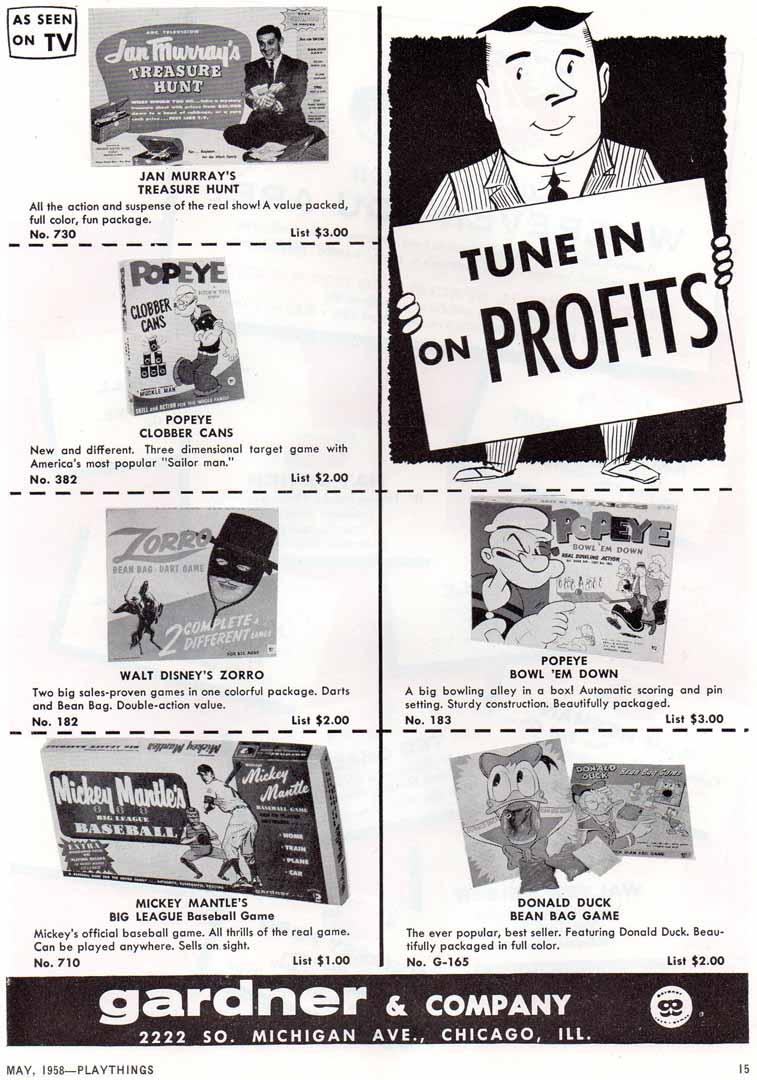 1958 playthings may