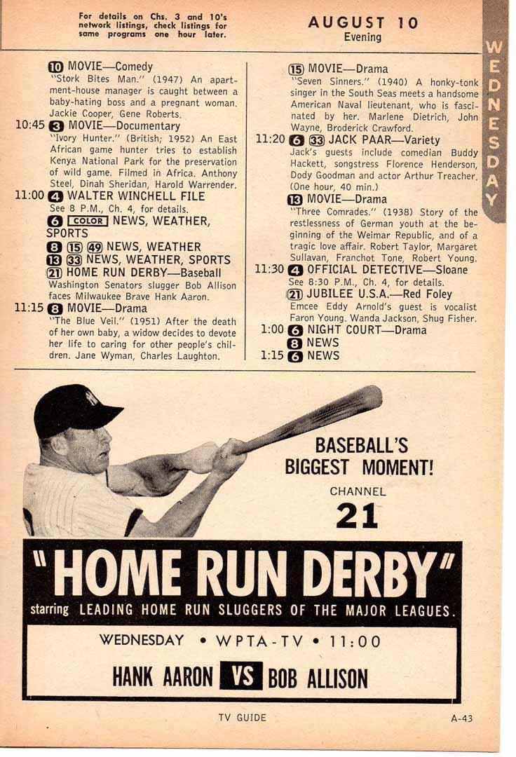 1960 tv guide 08/10