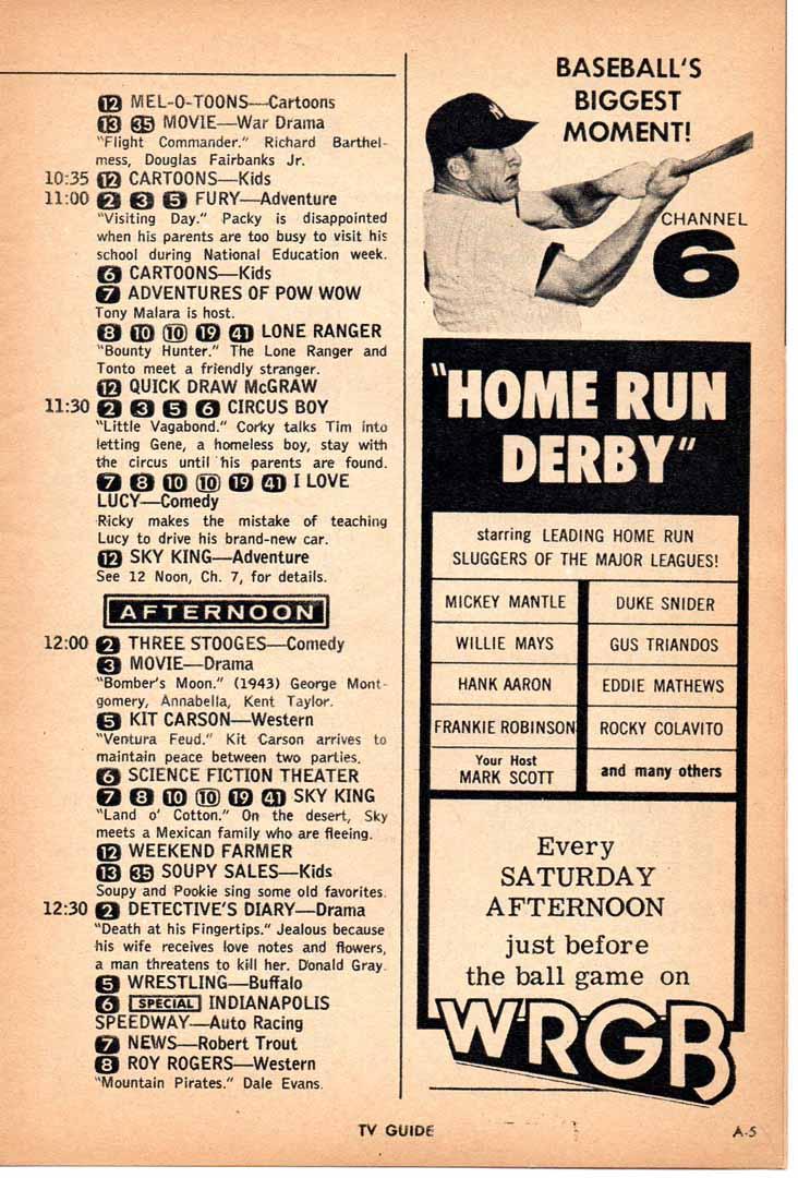 1960 era tv guide