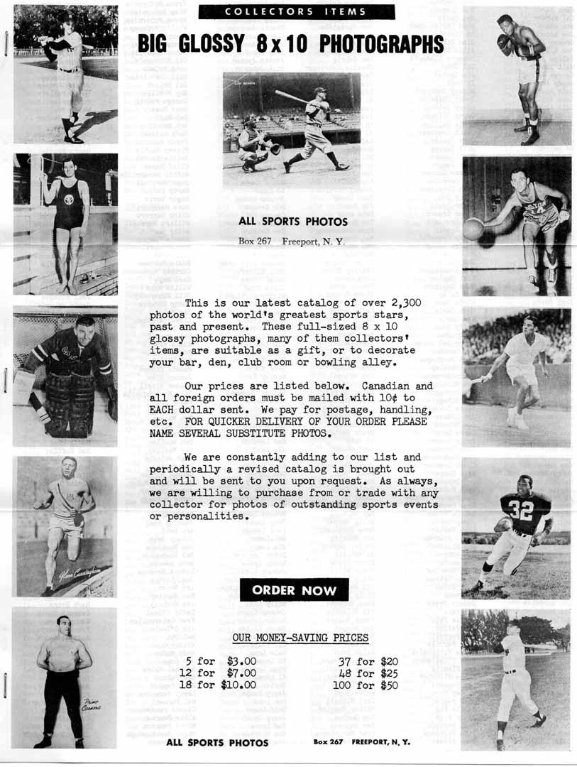 1960 era early all sports photos