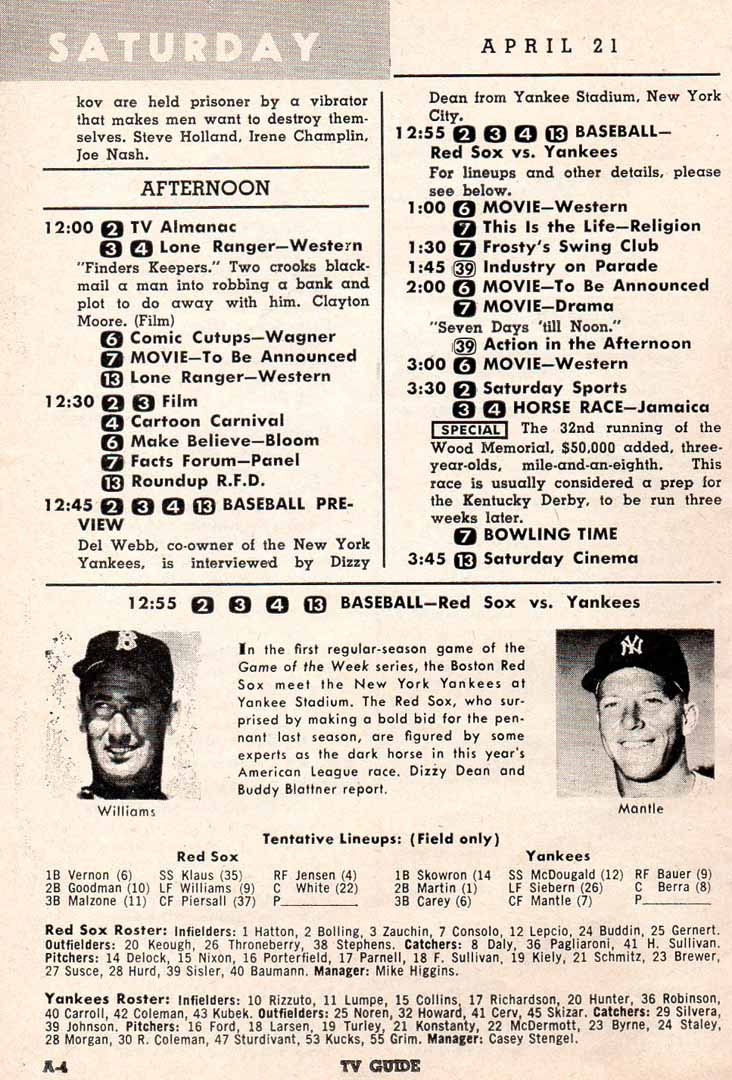 1956 TV guide 04/21 week