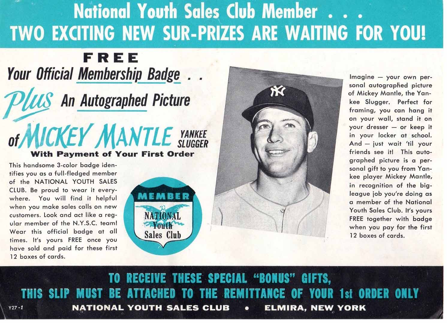1960 era national youth sales club