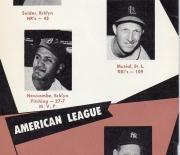 1957 baseball handbook and schedules