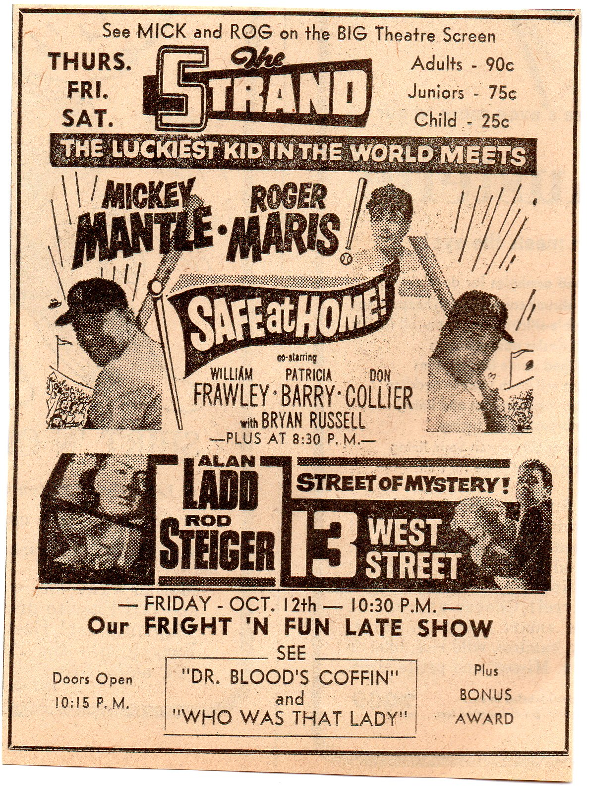 1962 hastings, nebraska 10/10, the strand theatre