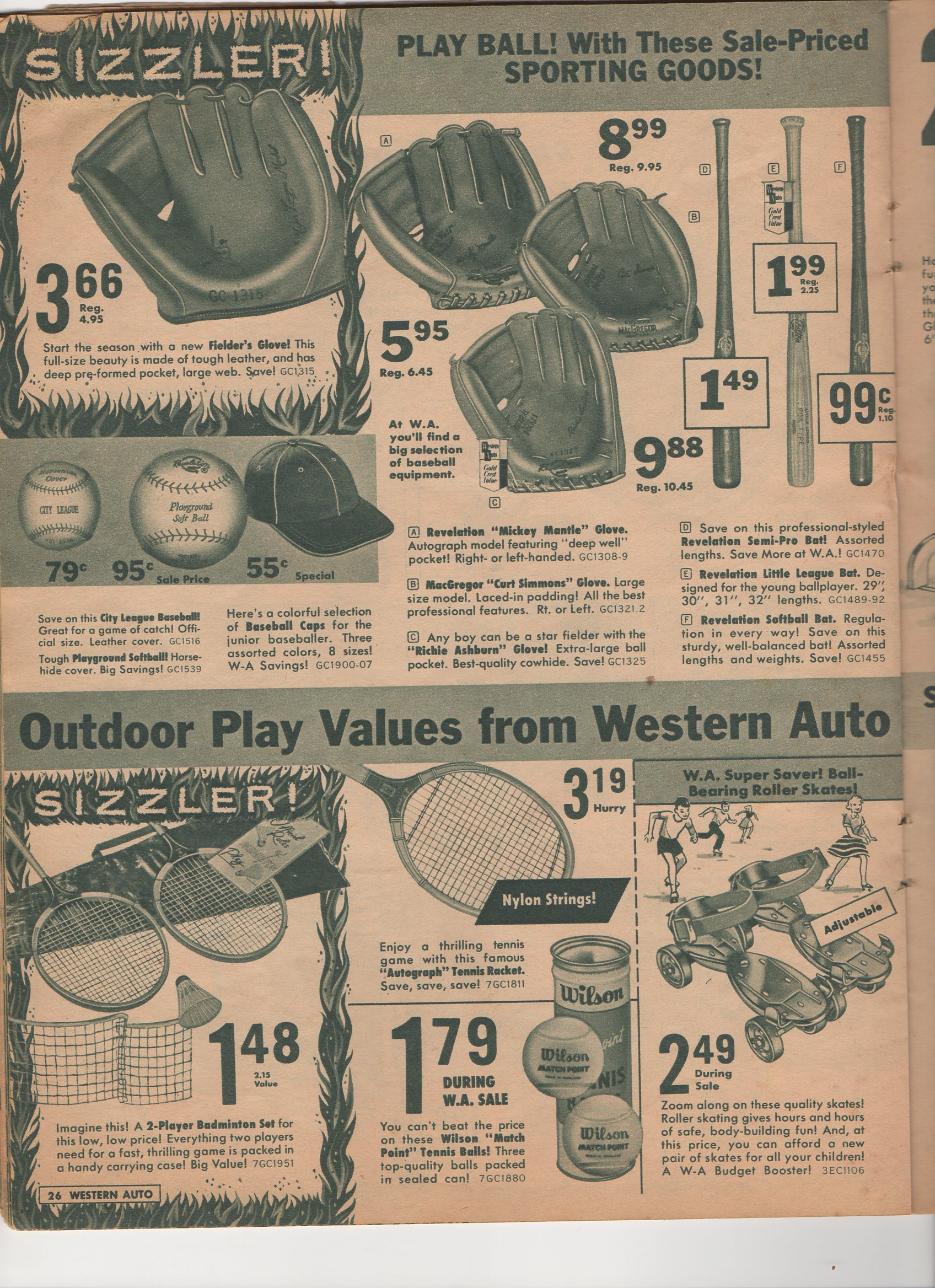 1961 western auto, 52nd anniversary, sale catalog