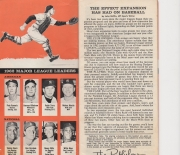 1963 baseball handbook and schedules