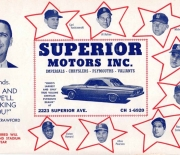 1964 cleveland indians game program
