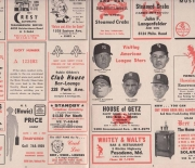 1963 oriole score card and review