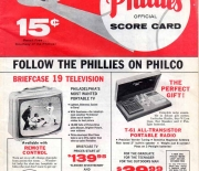 1961 phillies official score card
