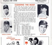 1963 detroit tigers score book