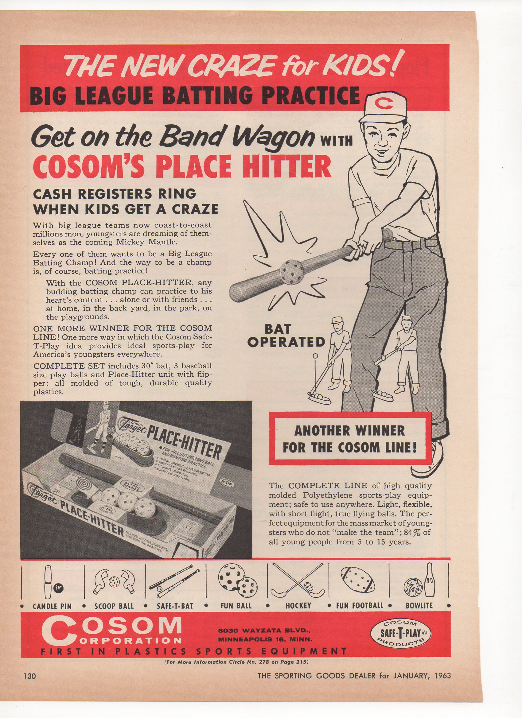 1963 the sporting goods magazine 01/63