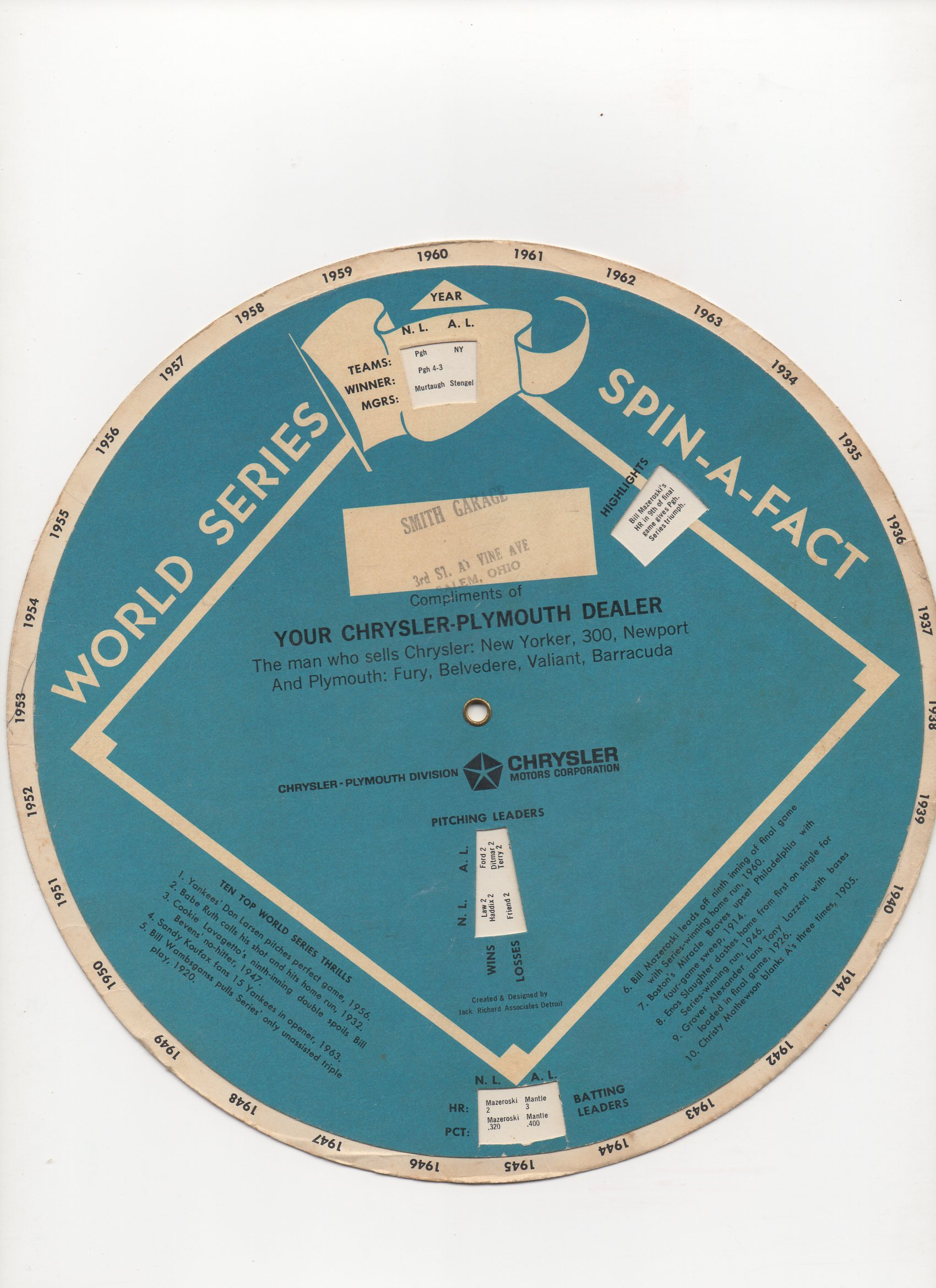 1964 world series spin-a-fact