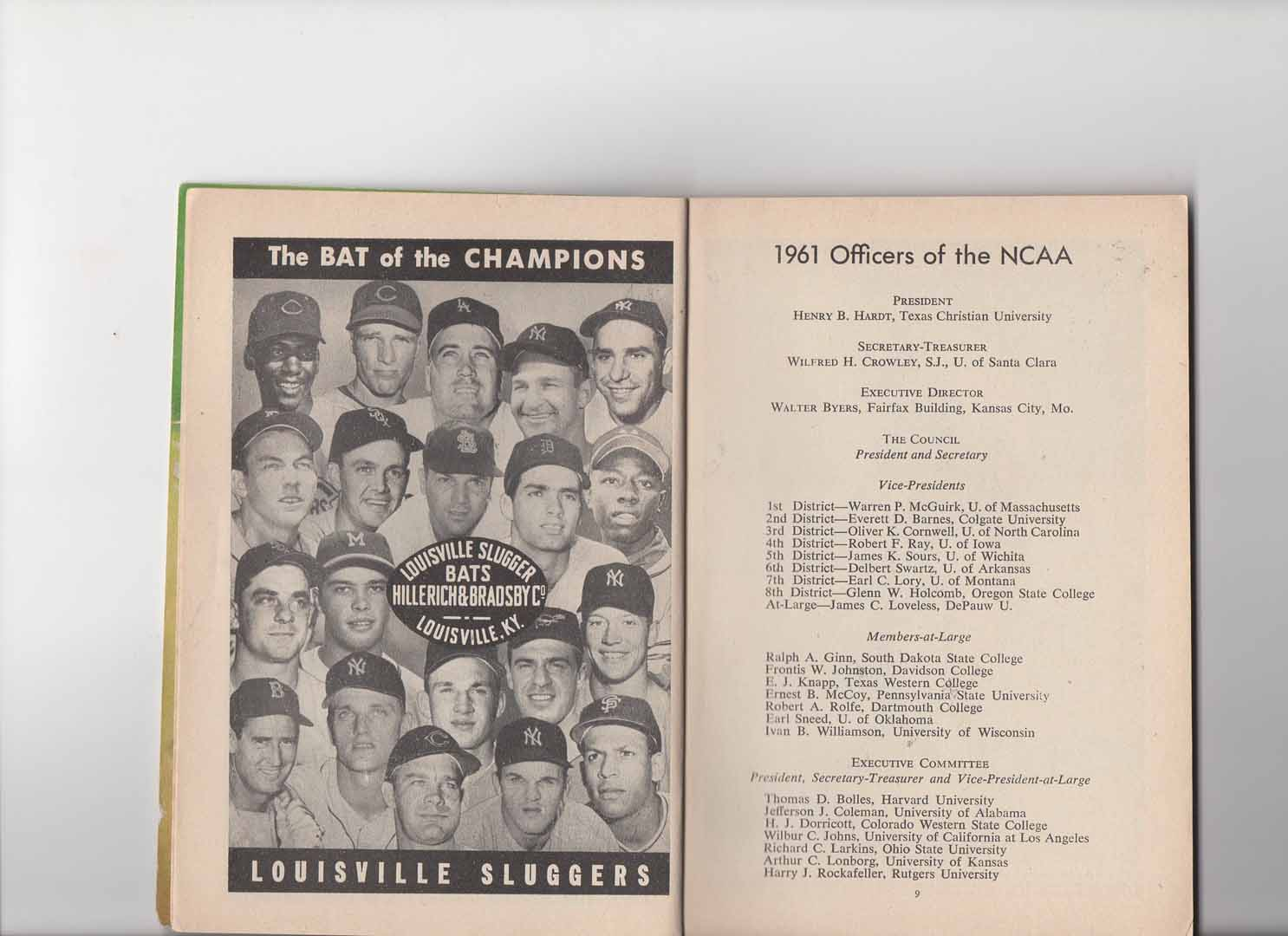 1961 NCAA official baseball guide