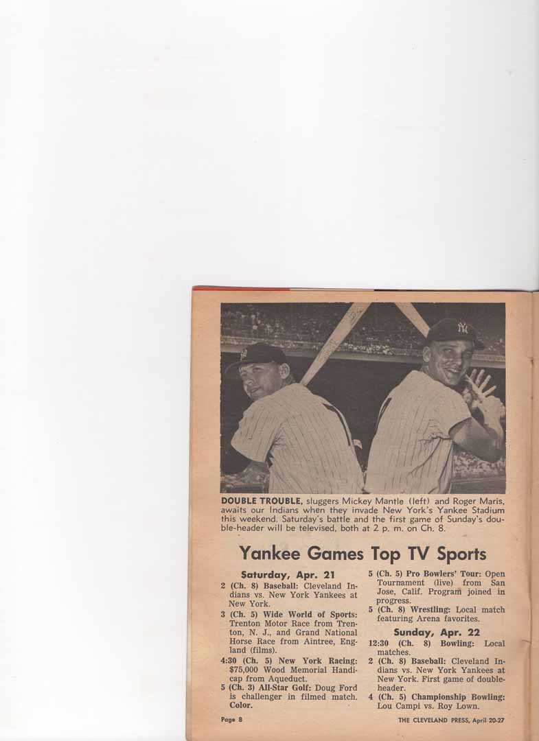 1961 tv guide cleveland ohio