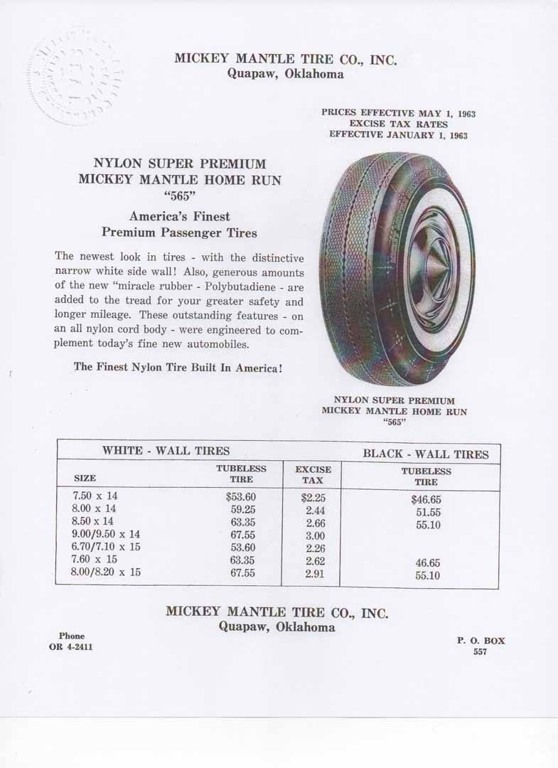 1963 mantle tire company