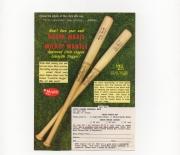 1962 sonic arts baseball tips, small flyer
